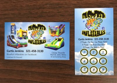 Blowfish Inflatables Business Punch Card