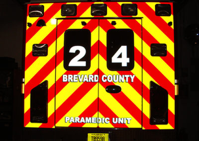 Brevard County Fire Rescue Ambulance Striping Night