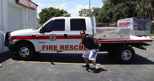 Brevard County Fire Rescue Striping