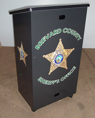 Brevard County Sheriff Podium Wrap