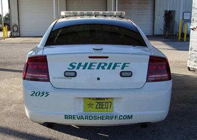 Brevard County Sheriff Rear Striping