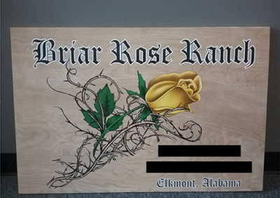 Briar Rose Ranch Print On Wood
