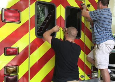 CCAFS Fire Rescue Chevron Striping