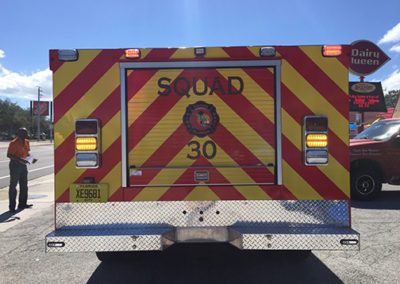 City Of Cocoa Squad 30 Chevron Stripes