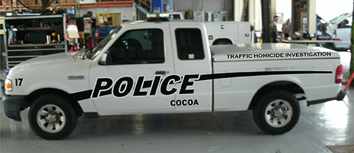 City Of Cocoa Traffic Homicide Investigation Truck Striping
