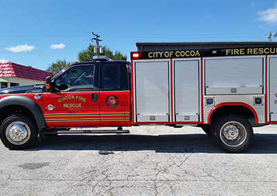 City of Cocoa Fire Rescue 30 Striping