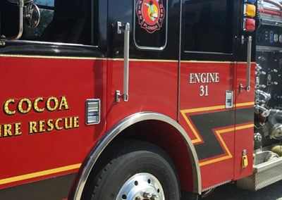 City of Cocoa Fire Rescue Engine 31 Graphic