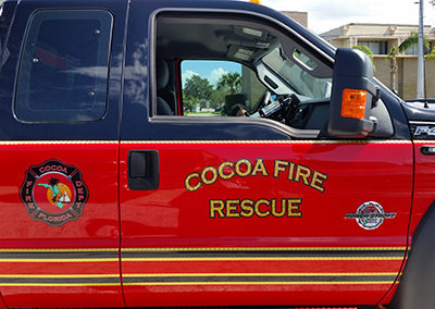 City of Cocoa Fire Rescue Striping