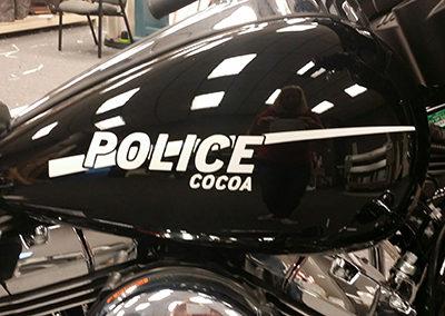City of Cocoa Police Bike Striping