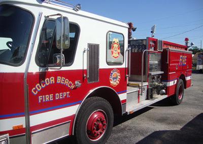Cocoa Beach Fire Truck Graphics