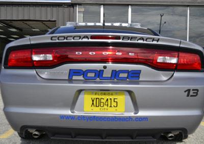 Cocoa Beach Police Rear Striping