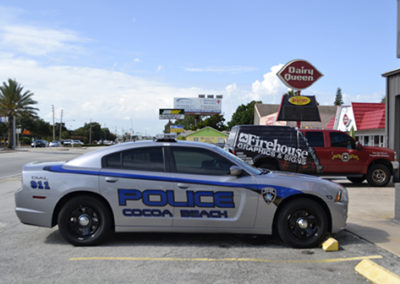 Cocoa Beach Police Striping