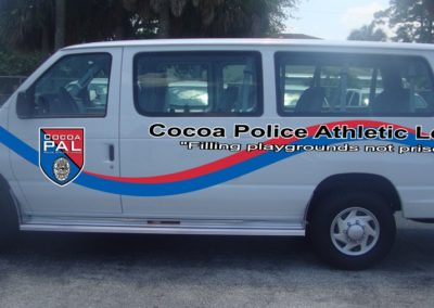 Cocoa Police Athletic League PAL Van Striping