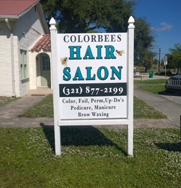 Color Bees Hair Salon PVC Sign