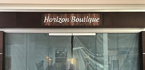 Horizon Boutique PVC Sign