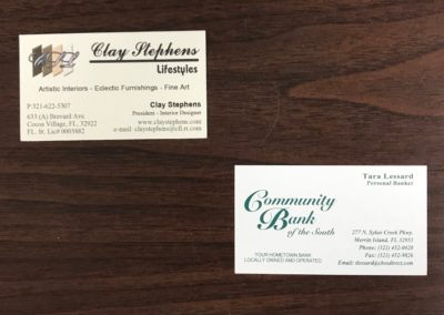 Linnen Stock Business Cards