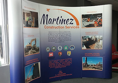 Martinez Construction Tradeshow Display