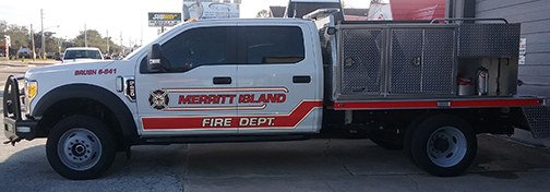 Merritt Island Volunteer Fire Rescue Striping