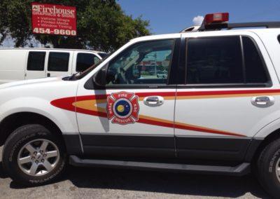 NASA KSC Fire Rescue Striping