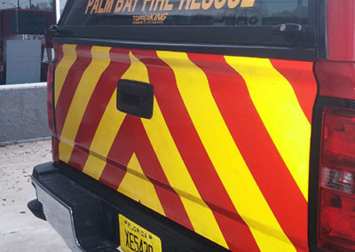 Palm Bay Fire Rescue S1 Chevron Striping