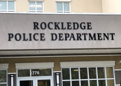 Rockledge Police Department Formed Letters