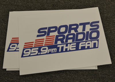 Sports Radio Coroplast Signs