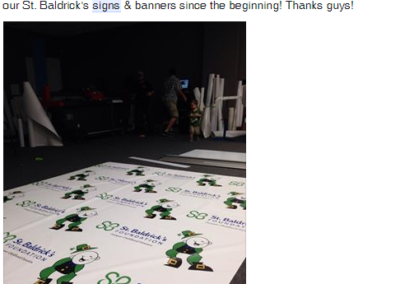 St Baldricks Backdrop Banner