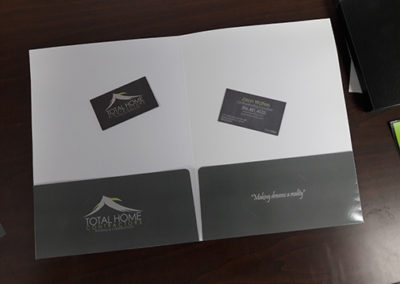 Total Home Contractors Folder and Business Cards