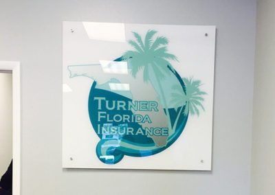 Turner Florida Insurance Acrylic Sign with Offsets