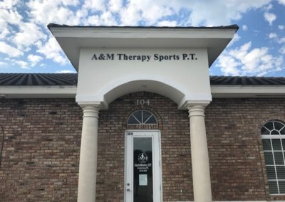 A&M Therapy Formed Letter Signage