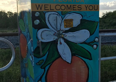 Cocoa Welcomes You Electrical Box Wrap