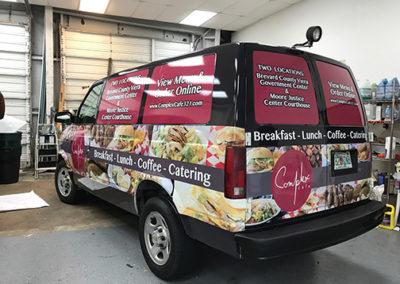 Complex Cafe Van Wrap