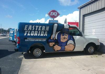 Eastern Florida State Collage Van Wrap