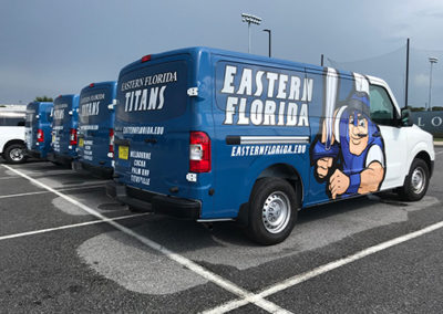 Eastern Florida State Collage Van Wraps