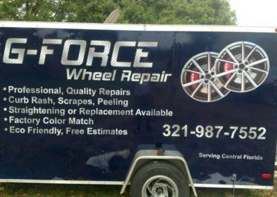 G-Force Wheel Repair Trailer Wrap