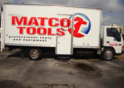 Matco Tools Partial Box Truck Wrap