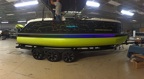 Roswell Pontoon Boat Wrap