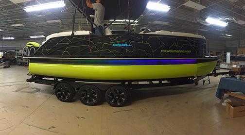 Roswell Pontoon Boat Wrap