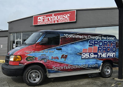 Sports Radio Van Wrap