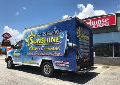 Sunshine Carpet Cleaning Box Truck Wrap