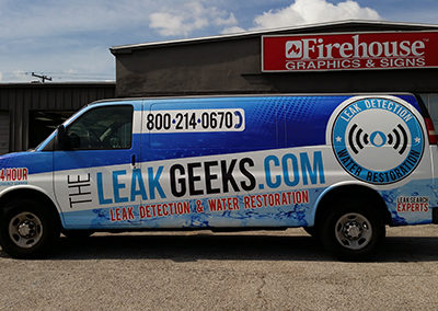 The Leak Geeks Van Wrap