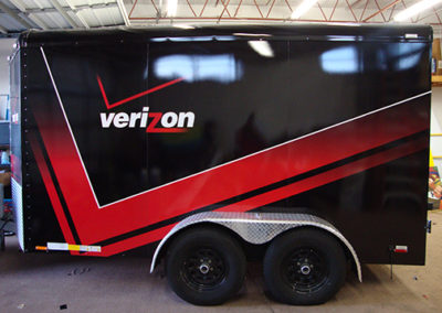 Verizon Trailer Wrap