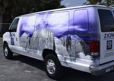 Zion Church Van Wrap